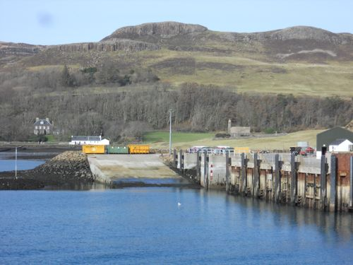 Canna harbour in sunlight