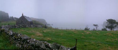 misty view across Canna