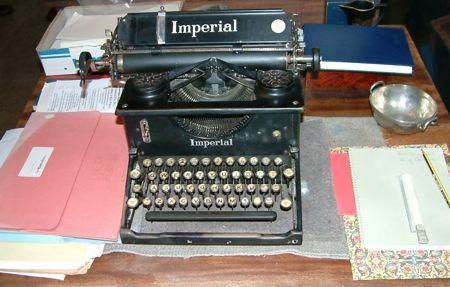 Margaret's typewriter
