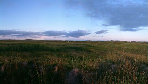 A panoramic view of South Uist against a blue sky