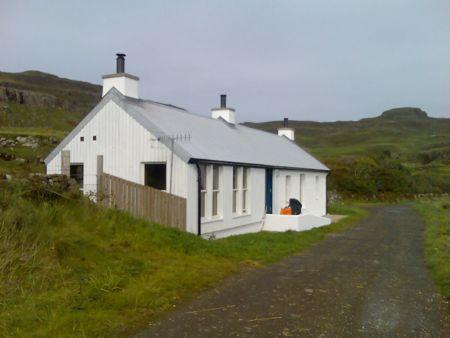 White cottage, 'Jane's Cottage' on Canna