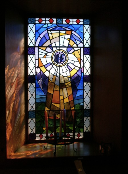 stained glass window, Canna Chapel