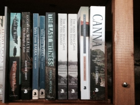 The book on sale beside the history of Canna by John Lorne Campbell